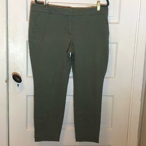 JCrew Cropped Olive Green Chinos
